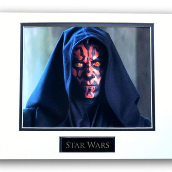 STAR WARS DARTH MAUL MATTED LICENSED 8X10 PHOTO FOR FRAME 11X14 PHANTOM MENACE SOLO