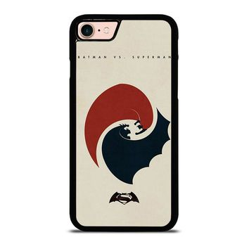 SUPERMAN VS BATMAN YIN YANG iPhone 8 Case Cover