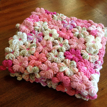 Floral Baby Blanket in Shades of Pink