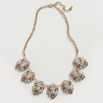 Annelise Pink Crystal Statement Necklace