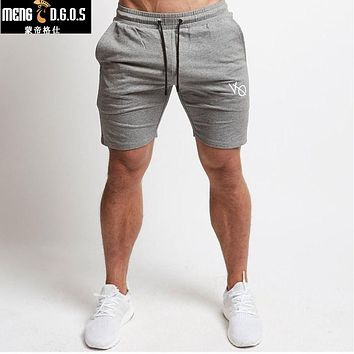 Men cotton shorts Calf-Length gyms Fitness  Casual Joggers workout sporting short pants