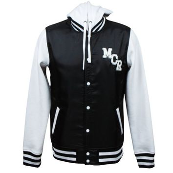 school sucks, start a band. hooded varsity jacket