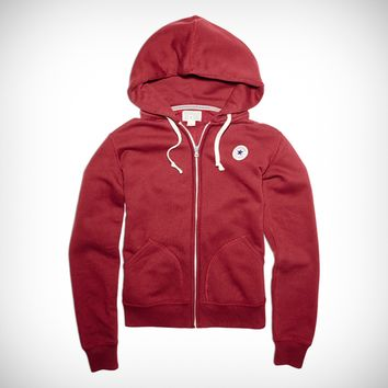 Womens Chuck Taylor Patch Full Zip Hoodie