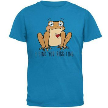CREYCY8 Toad I Find You Riveting Funny Pun Valentine's Day Mens T Shirt