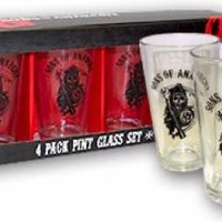 Sons Of Anarchy Pint Glasses - Reaper Logo