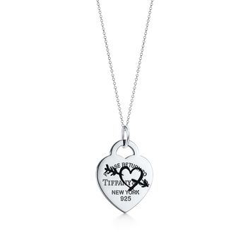 Tiffany & Co. - Return to Tiffany®:Etched Heart and ArrowTag Charm
