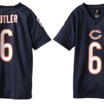 Jay Cutler #6 Chicago Bears Navy Blue Youth NFL Home Team Apparel Jersey