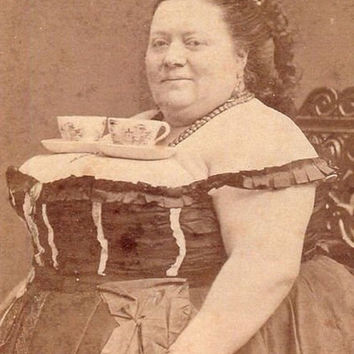 "Teacups- ""Cup Holder"" Funny Photo  *INSTANT DOWNLOAD* - Collage Photo-Antique Vintage Old Photo print, photograph"