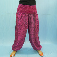 Gypsy Boho Sari Harem Trouser - Baggy Loose Comfortable Womens Yoga Pants - Great for Gift