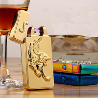 Tiger Design Rechargeable Flameless Electric Double Plasma Windproof Lighter