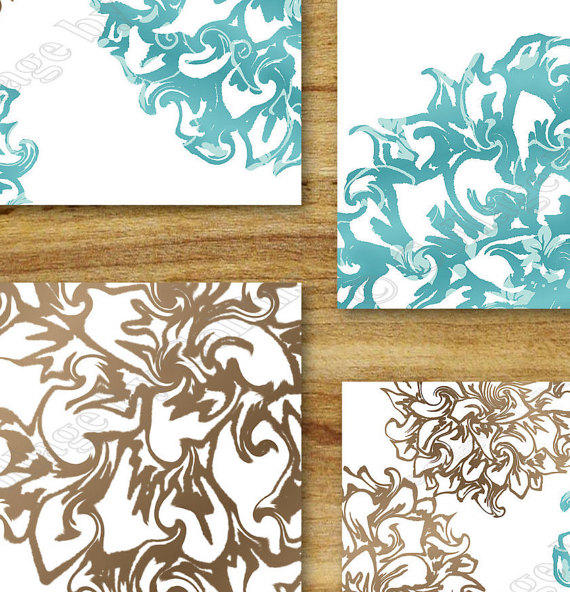 Teal brown aqua wall art prints decor from collagebycollins on for Teal and brown bathroom accessories