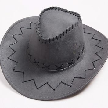 COWBOY HAT ANTI-UV FACE PROTECTION MEN WOMEN STRAW HAT TRAVEL BELT BUCKLE.