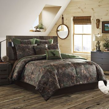 True Timber Mixed Pine 4-pc. Comforter Set - King (Green)