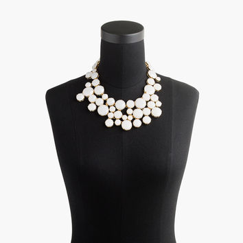 Frosted crystal collar necklace