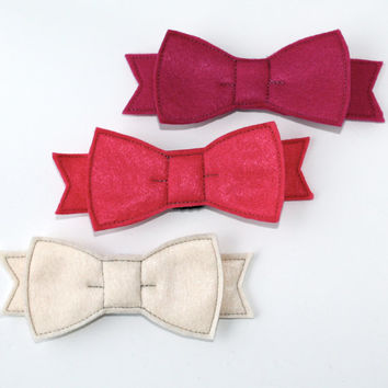 Valentine's Day Removable Flat Felt Bow Tie For Dog Collar