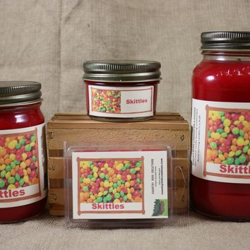 Skittles Scented Candles and Wax Melts, Candy Scent Candle, Highly Scented Candles and Wax Tarts