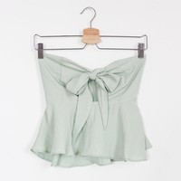 Toulouse Peplum Tube Top