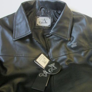 A Collezioni Black Coat Made in Italy Size M NWT
