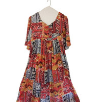 Hippie Boho Dress Muumuu Dress Muu Muu Dress With Pockets Loose Dress Women Bohemian Maxi Dress Long Hippie Dress Mu Mu Dress 70s Hippie
