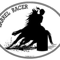 Horse Decal- BARREL RACING- Equestrian I Love Horses barrel racer window car truck sticker laptop walls
