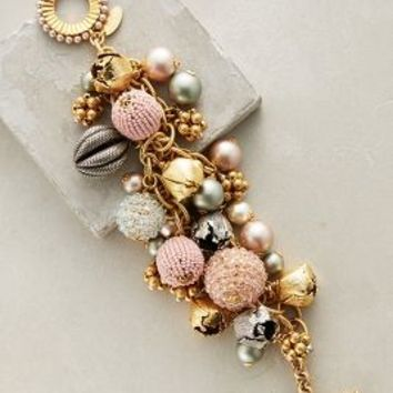 Miriam Haskell Septime Charm Bracelet in Pink Size: One Size Bracelets