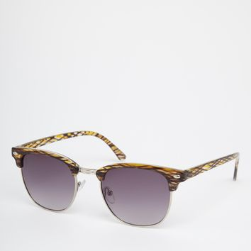 River Island Clubmaster Sunglasses at asos.com