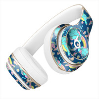 Unicorn and Happy Little Rainbow Pattern Skin for the Beats By Dre Headphones
