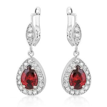 Hildreth Vintage Classic Drop Earrings | 3.8ct | Cubic Zirconia | Silver