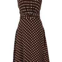 Brown Pretty Woman Spot Dress - Occasion Dresses - Dresses - Clothing - Womens Fashion - Wallis