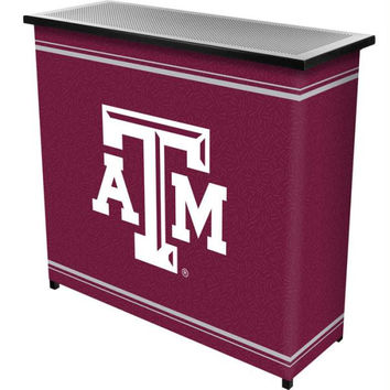 Texas A&M University 2 Shelf Portable Bar w- Case