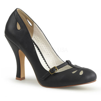 Pin Up Couture Black Smitten Pumps