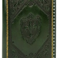 "BARNES & NOBLE | Embossed Fleur De Lis Green Italian Leather Journal (9""x7"") by Fiorentina LLC"