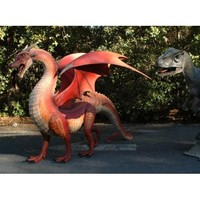 GIANT Dragon red WINGS big huge statue COOL LifeSize eragon Sculpture WOW
