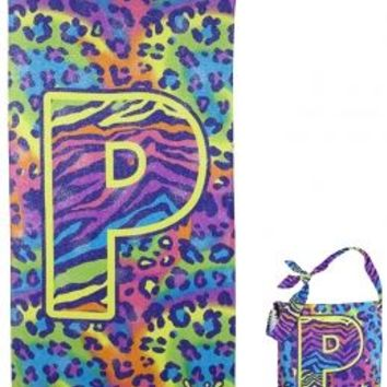 Animal Print Initial Beach Towel In A Bag | Girls Beach Towels Swim | Shop Justice