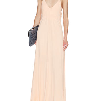 Draped Back Maxi Dress