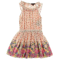 Juicy Couture Girls Island Blooms Floral Print Casual Dress