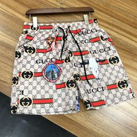 GUCCI Hot Sale Men Casual Print Sport Shorts