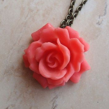 Bella in Soft Coral Red by SimplyChacha on Etsy