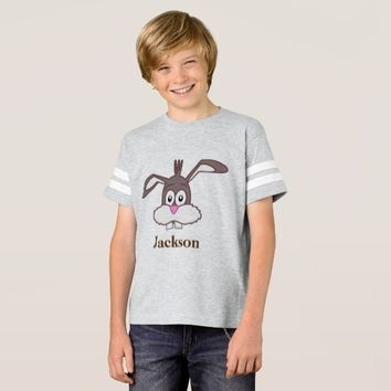 Cute Bunny Happy Easter Kids' Football T-Shirt