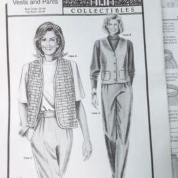 Vintage ANN Person Collectibles Stretch & Sew Womens PATTERN Vests Pants 30-46B