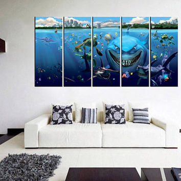 finding nemo canvas wall art, finding nemo art, finding nemo print on canvas, disney canvas, disney poster, canvas print 12m00