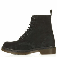 ADMIRE Suede Lace Up Boots