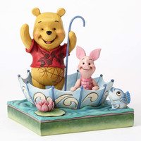 "Disney Jim Shore Traditions Pooh and Piglet Sharing ""50 Years of Friendship"" New"