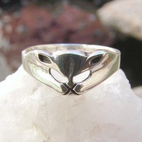 Cat Ring Sterling Silver Ring 240 by Firefallstudios on Etsy