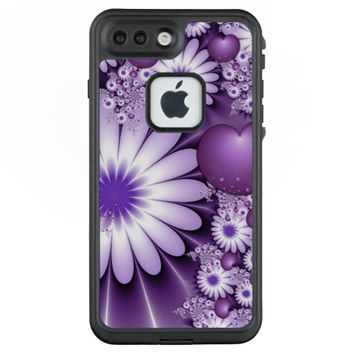 Falling in Love Abstract Flowers & Hearts Fractal LifeProof® FRĒ® iPhone 7 Plus Case