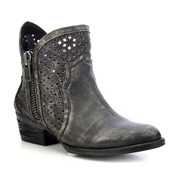 Women's Circle G by Corral Ankle Boot Cowhide Round Toe Boot