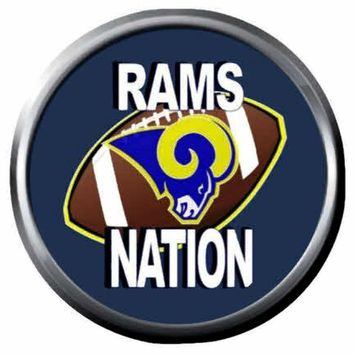 NFL Superbowl LA Rams Nation Football Fan Logo 18MM-20MM Snap Jewelry Charm New Item