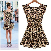 Cheetah / Leopard Print Mini Dress