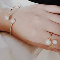 Pearl Bangle Bracelet and Ring Pack