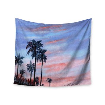 "Rosie Brown ""Florida Sunset"" Pink Blue Wall Tapestry - Outlet Item"